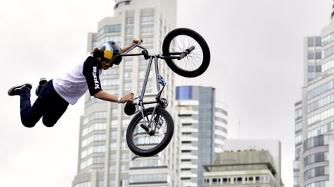 Party central at thrilling BMX Freestyle Team final