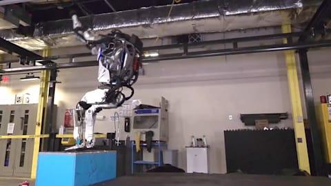Robot backflips but has a long way to beat Biles