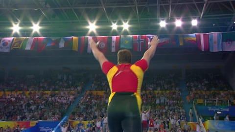 L'émotion de Steiner après son titre olympique