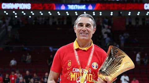 Coach Sergio Scariolo leads Spain to FIBA World Cup crown