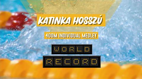 Record du monde et médaille d'or pour Hosszu