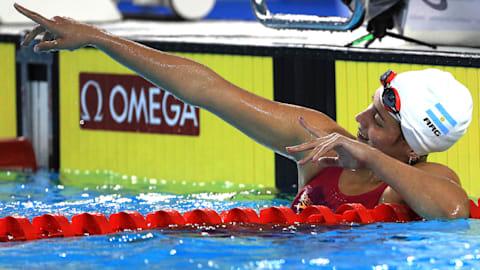 Le grand espoir de la natation argentine Delfina voit en grand