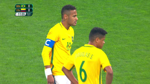 Neymar scores his first goal at Rio 2016