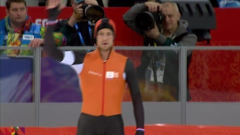 التزلج السريع: سباق 500م   مايكل مولدر - سوتشي 2014