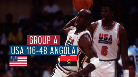 USA vs Angola (Groupe A) | Dream Team Barcelone '92