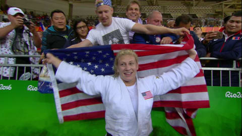 Harrison wins gold in Women's Judo -78kg