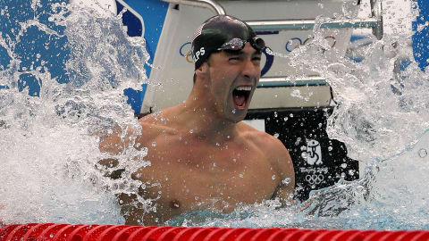 Michael Phelps mit acht Goldmedaillen in Peking