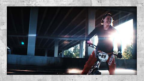 주차장에서 훈련한 러시아의 BMX 올림피언