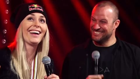 Lindsey Vonn and Aksel Lund Svindal celebrate careers in style