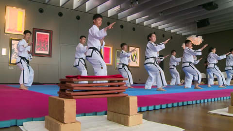 Watch: Korean stars unite for smashing display of taekwondo skill