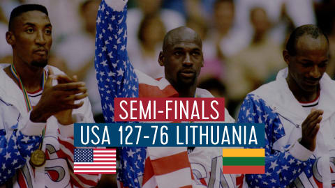 USA vs Lithuania (Demi-Finale) | Dream Team Barcelone '92