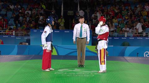 A. ABUGHAUSH (JOR) df. J. GONZALEZ BONILLA (ESP),12:7 | Taekwondo @ Rio 2016