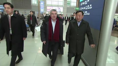 IOC-Präsident trifft in PyeongChang 2018 ein
