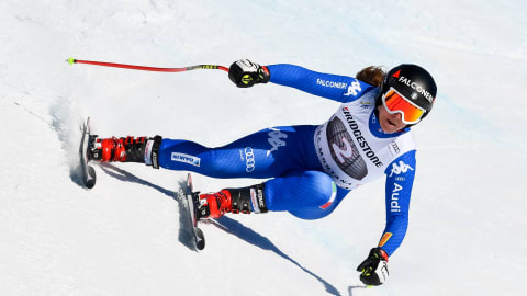 Sofia Goggia racing against the clock to make return ahead of skiing World Champs