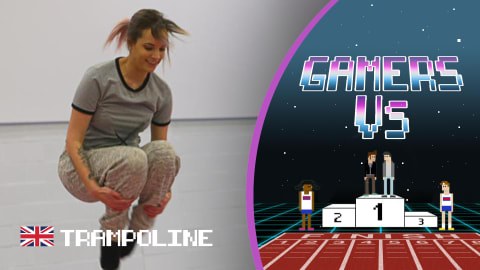 Can gamer Ashley Marie shock Bryony Page in an epic trampoline challenge?