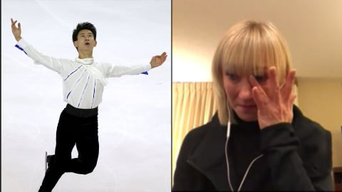 Aljona Savchenko in tears over Denis Ten: