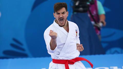 Alegria espanhola no Campeonato Mundial de Karate em Madri