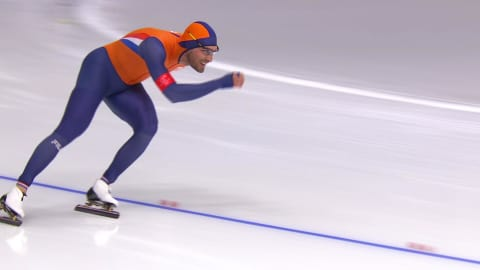 Dutchman Kjeld Nuis gets best time in pair to win 1500m Gold | Speed Skating