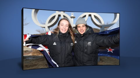 Nico Porteous y Zoi Sadowski Synnott | PyeongChang 2018 | Take the Mic