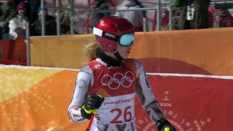 Snowboarding specialist Ledecka wins gold in Women's Super-G | Alpine Skiing