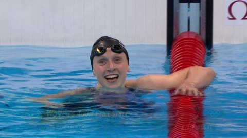 Ledecky sets 400m Freestyle world record
