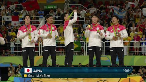 Il Giappone vince l'oro nella prova di ginnastica artistica a squadre