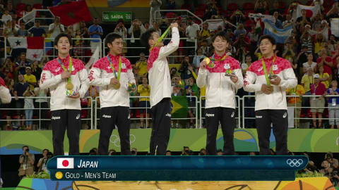 Japan take gold in Men's Artistic Gymnastics