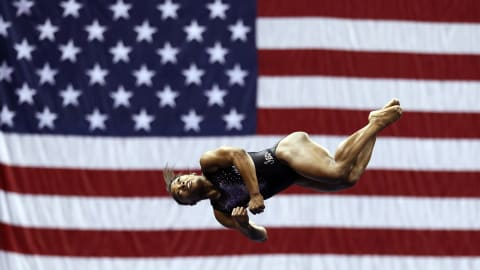 Simone Biles flies to sixth U.S. title in Kansas City