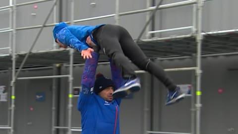 Dirty dancing? Ski jumpers prepare in an unusual way