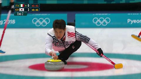 意大利vs韩国(循环赛) - 男子冰壶 | 2018年平昌冬奥会回看