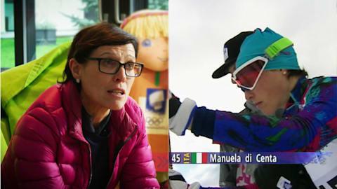 Di Centa erklärt wie sie ihre 5. Medaille in Lillehammer holte