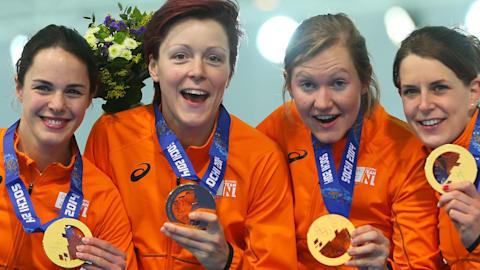 L'équipe néerlandaise de patinage de vitesse écrase la compétition