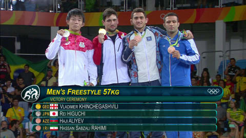 キンチェガシビリがレスリング男子フリースタイル57kg級で金