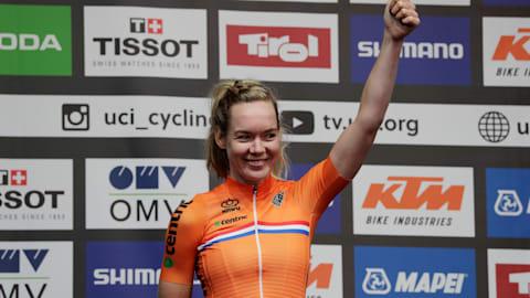 Anna van der Breggen adds world road race crown to Olympic gold