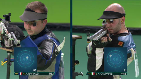Campriani wins Shooting gold for Italy
