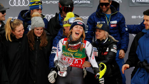 Mikaela Shiffrin dominates Maribor slalom