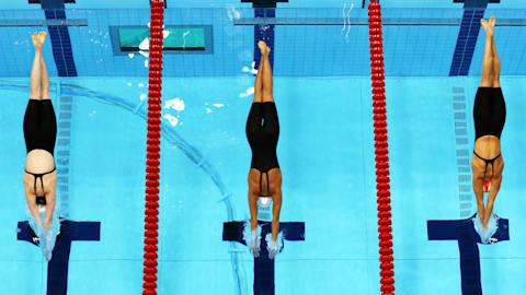 La belleza de la natación femenina