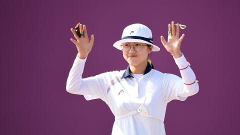 Korean archery rising star An San targets Tokyo 2020 after test event gold