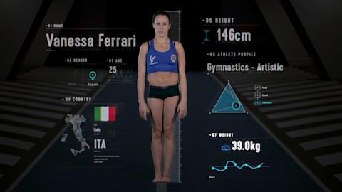 Anatomia di una ginnasta: Ferrari, l'atleta più flessibile del mondo?