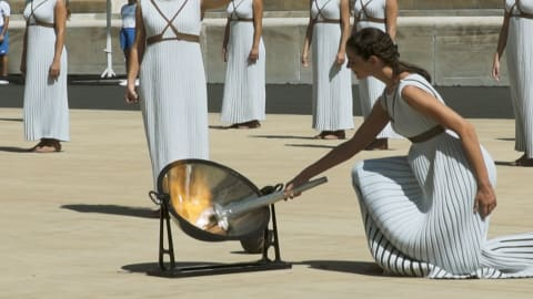 Lausanne Youth Olympic Games flame lit in Athens