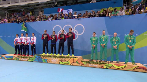 USA win ninth gold in men's 4x100 medley