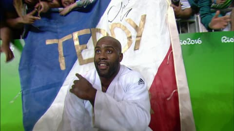 Another gold for France's Riner in Men's 100kg Judo