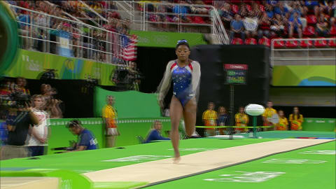 Biles wins highly anticipated all-around individual gold