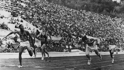 Hary strikes gold in Rome 1960 100m final