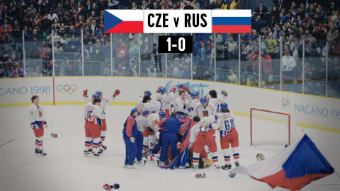 CZE v RUS, Men's Ice Hockey Final | Nagano 1998 Replays (no commentary)