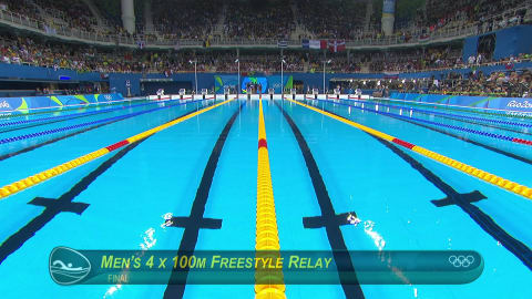 USA take gold in Men's 4x100m Freestyle Relay