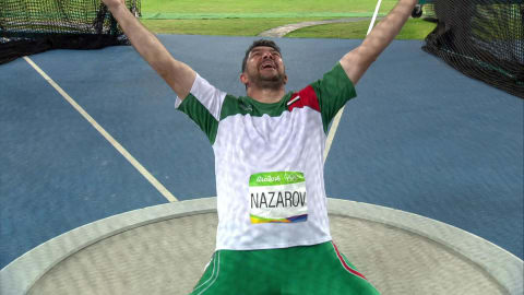 Nazarov wins historic gold in Men's Hammer Throw