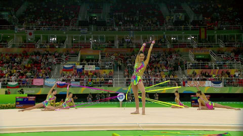 El equipo ruso gana la final de gimnasia rítmica