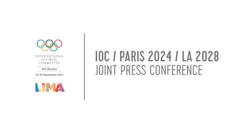 CIO / Parigi 2024 / Los Angeles 2028 Conferenza stampa congiunta