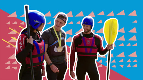 Who can survive an Olympic gold medallist's canoe slalom workout?